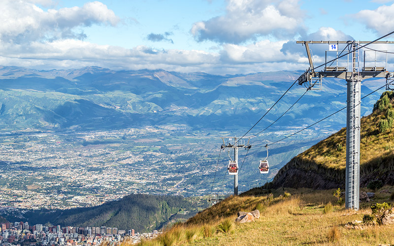 Cable car over Quito