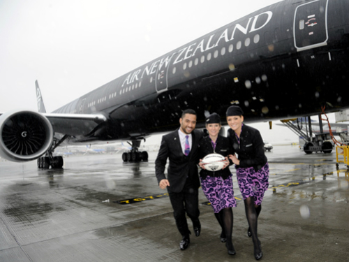 The All Black Boeing Air New Zealand