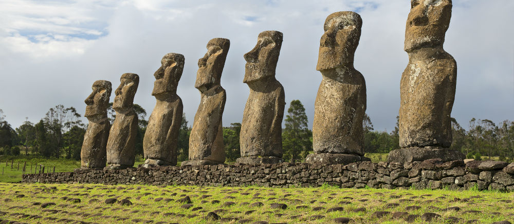 Easter Island is famous for its Moai statues