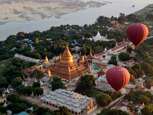 Balloons over Pagan… Burma from the skies
