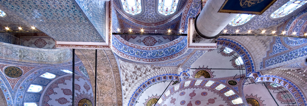 Roof interior of the Blue Mosque