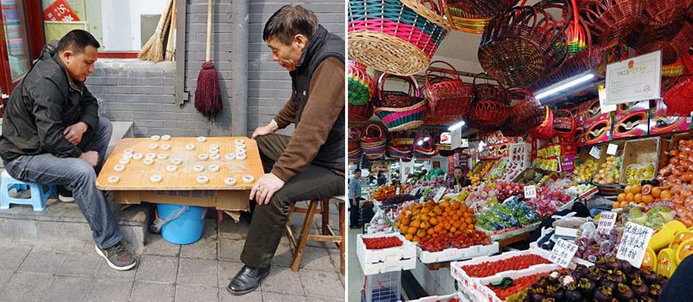Local men and markets