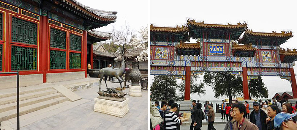 Summer palace and tourists