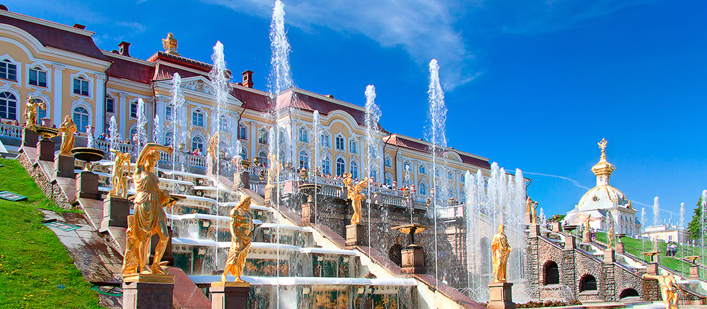 Fountains at the Peterhof Palace
