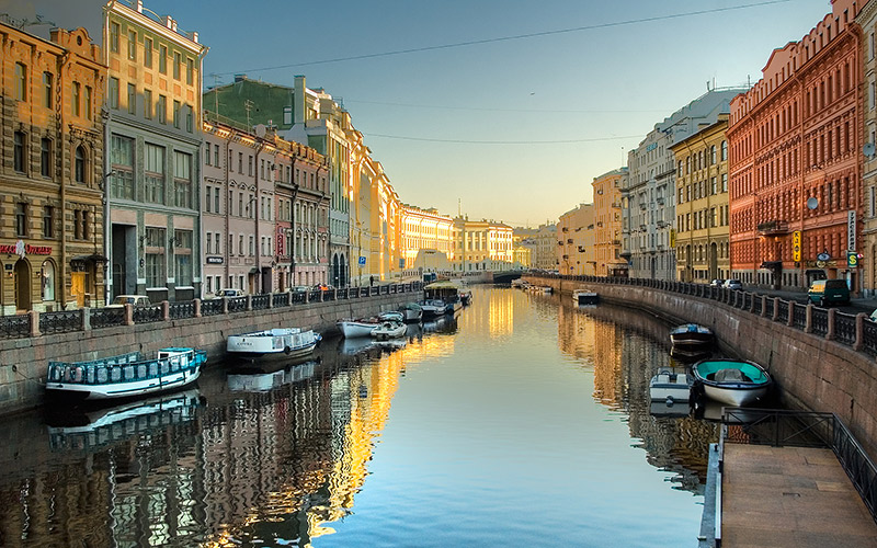 The canals of St Petersburg