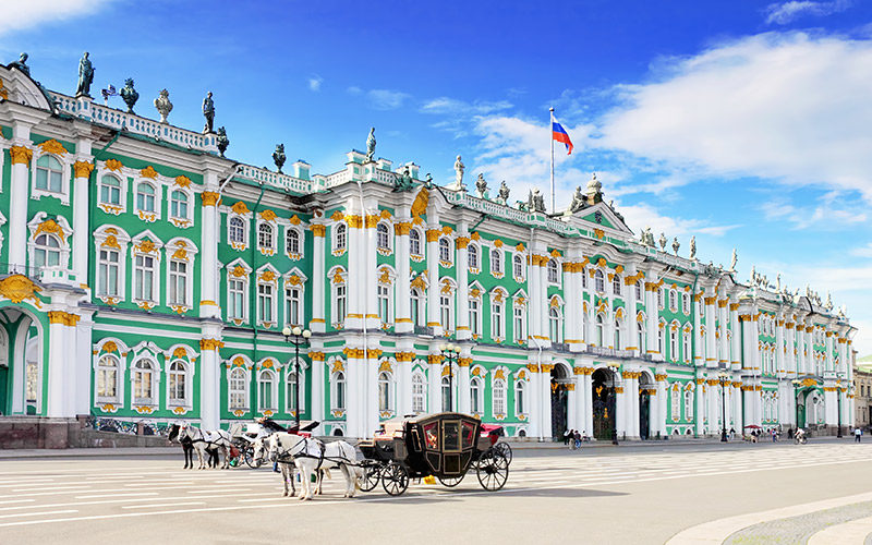 The Hermitage, housed inside the Winter Palace, St Petersburg