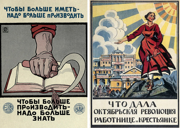 Soviet posters from the Russian Revolution