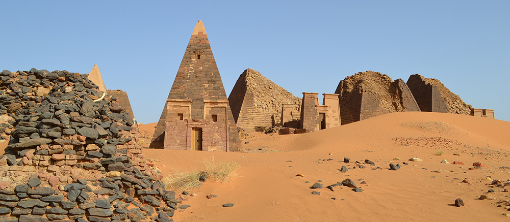 Pyraminds in Meroe