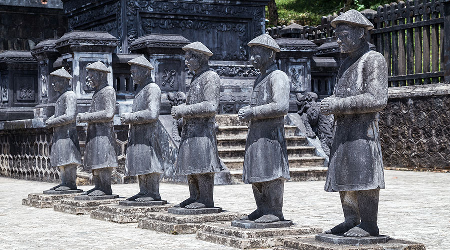 Warrior statues, Imperial Khai Dinh Tomb