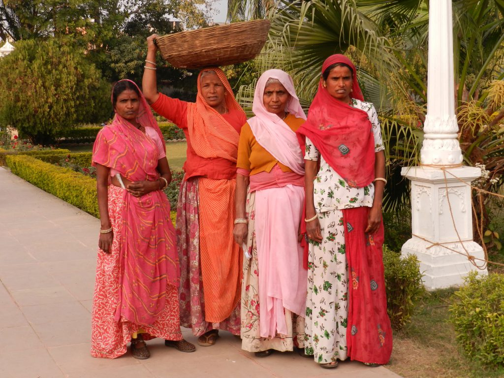 Colourful Saris worn by Women in North-West India