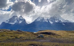 Snow-capped mountains of Torres del Paine