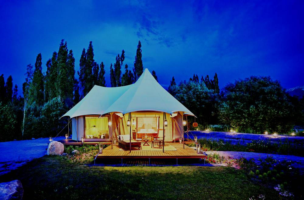 Chamba Camp Presidential Tent exterior
