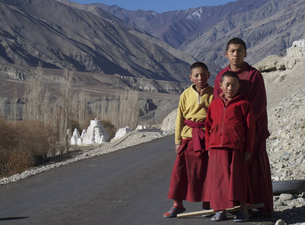 Young local monks