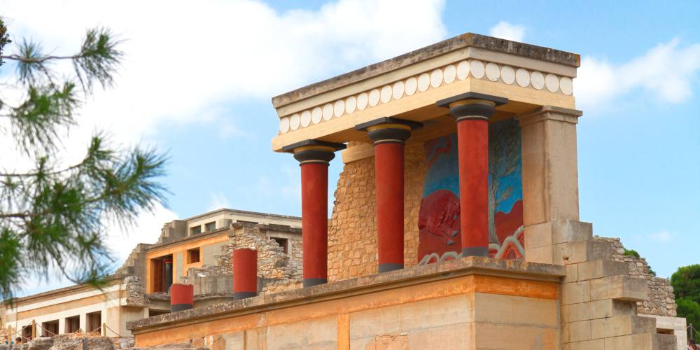 Northern entrance to Knossos Palace, Crete