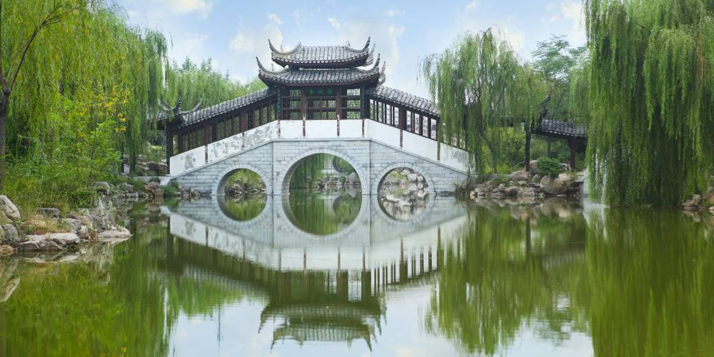 the ancient gardens of Suzhou