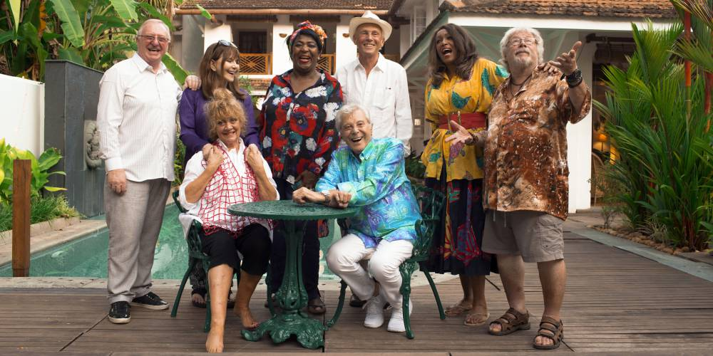 The cast of The Real Exotic Marigold Hotel-series 2