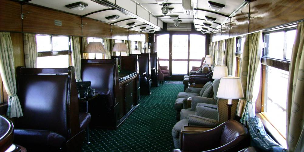 Observation Car, Rovos Rail, South Africa