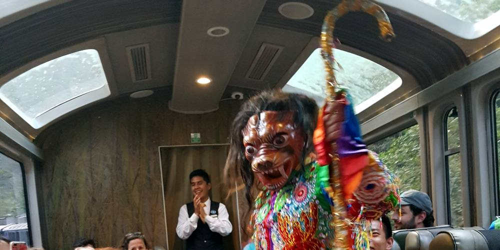 Dancing devils in trains to Cuzco
