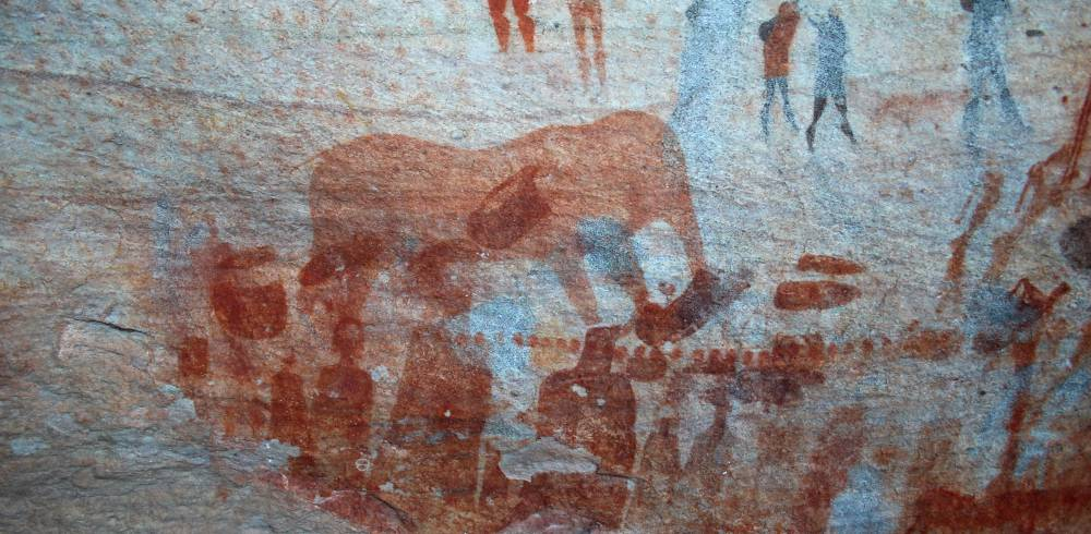 Bushmans Kloof - rock paintings