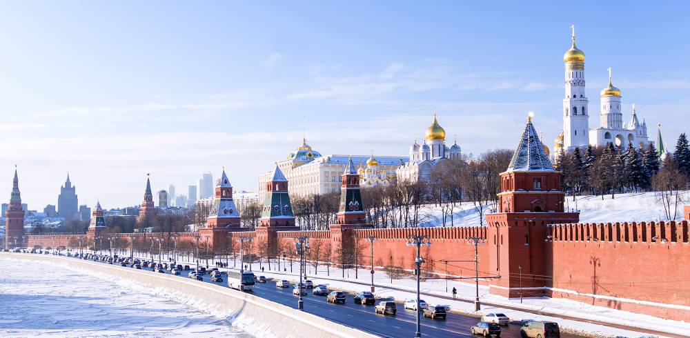 Kremlin winter view, Moscow, Russia