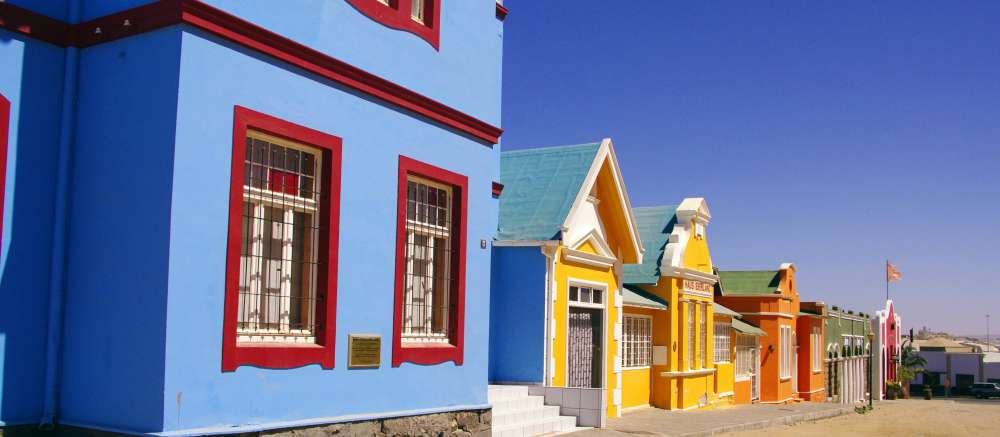 Colourful houses, Luderitz