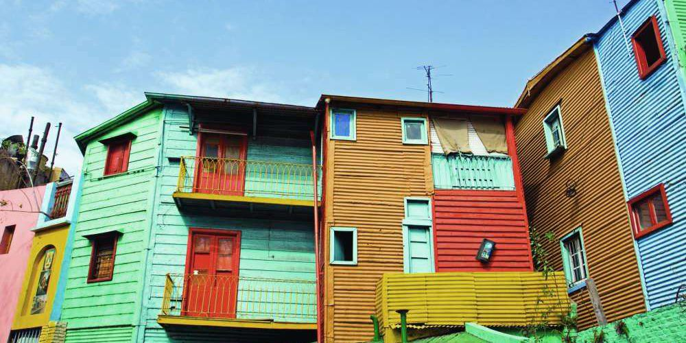 Colourful house in La Boca, Buenos Aires