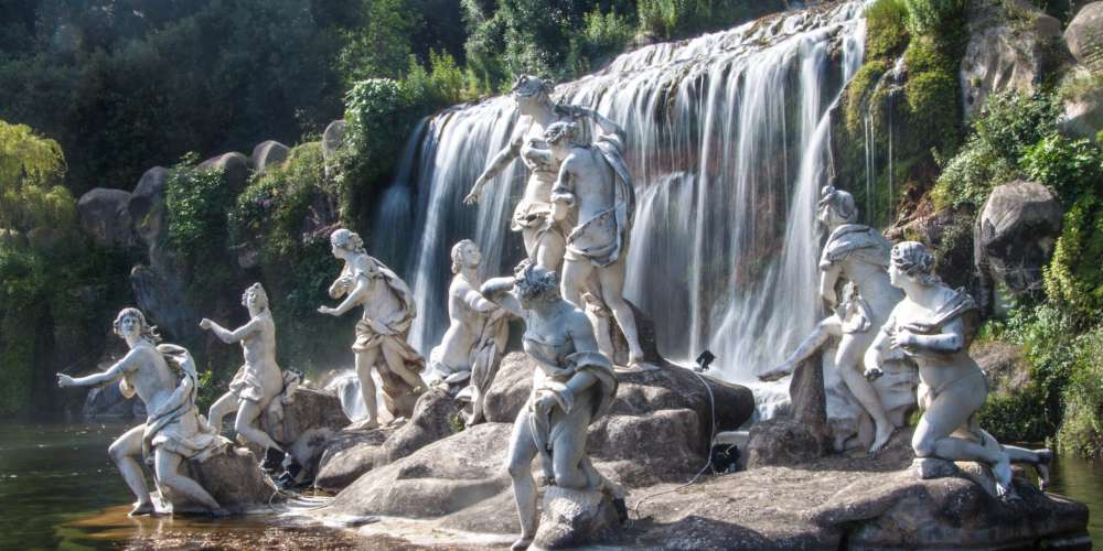 The garden of the Palace of Caserta