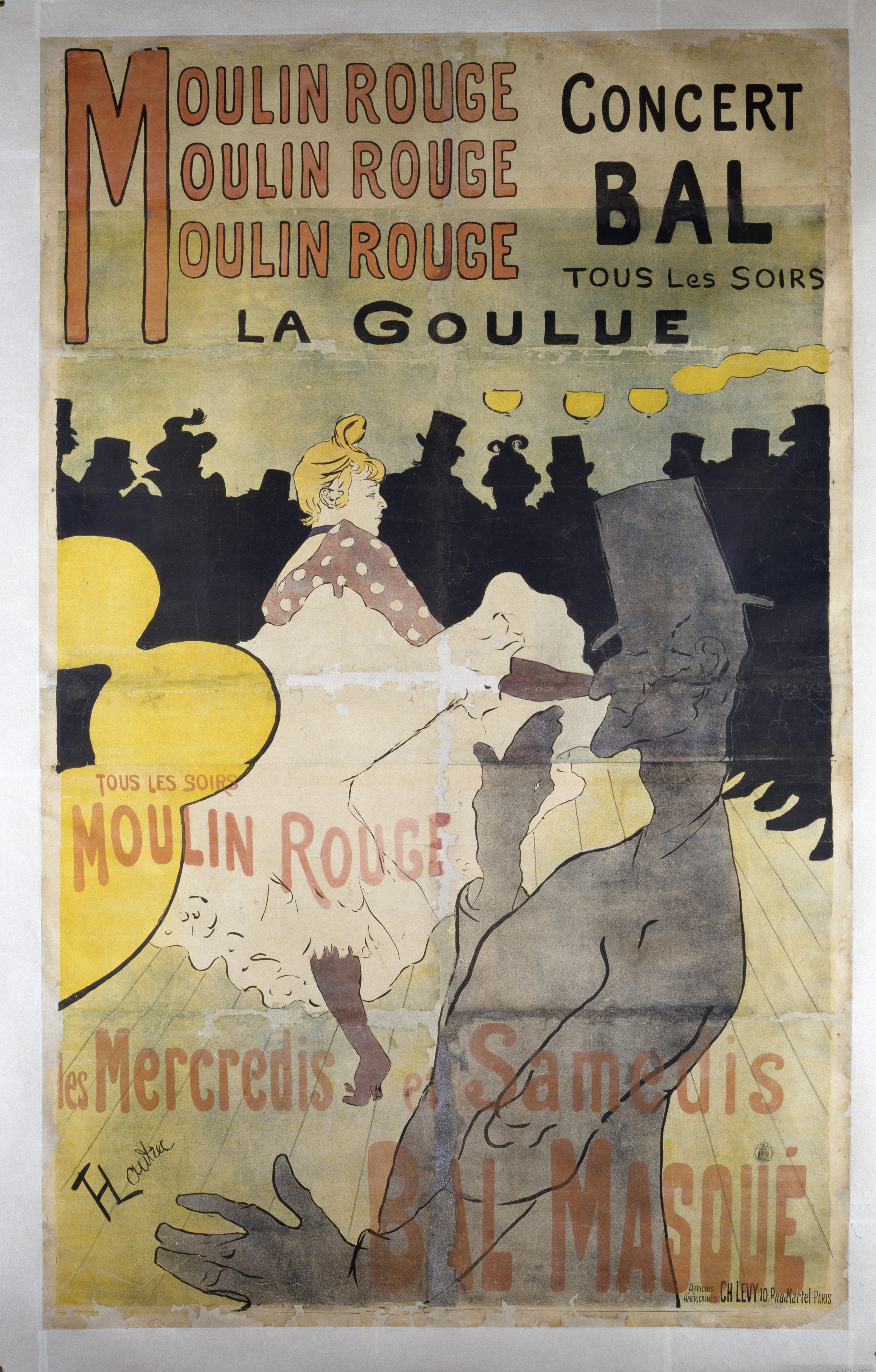 Moulin Rouge, La Goulue (Poster), 1891. Collection: Victoria and Albert Museum, London, presented by Mrs. J. T. Clarke. © Victoria and Albert Museum, London.