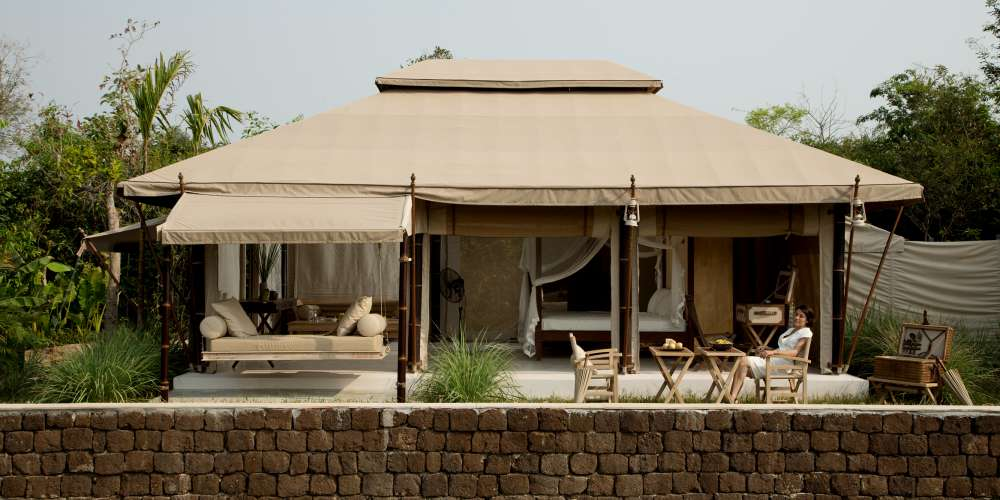 The Beige tented camp