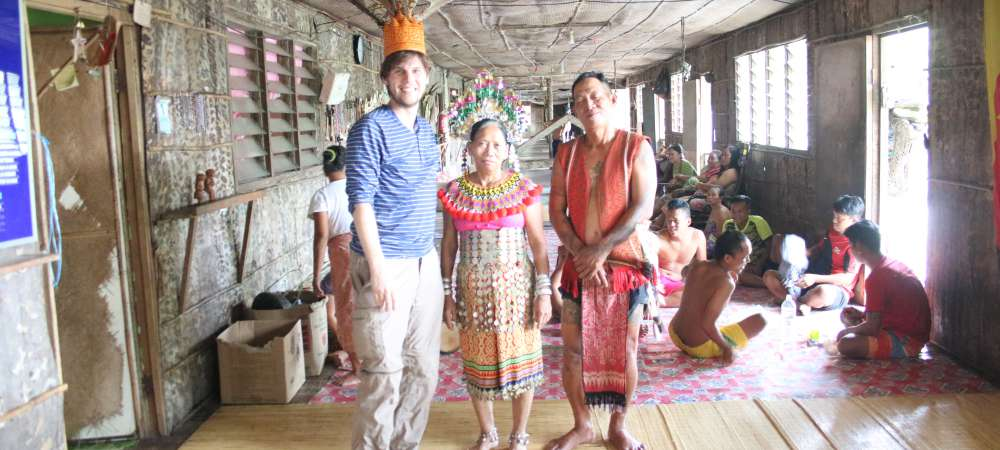 Meeting the Iban tribe