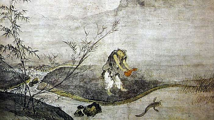Josetsu's Catching a catfish with a Gourd