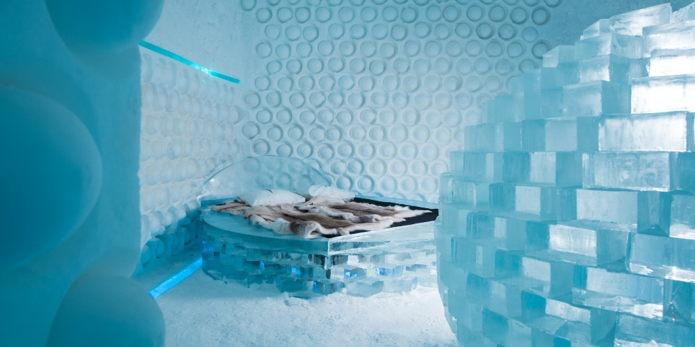 The interiors of Ice Hotel 365