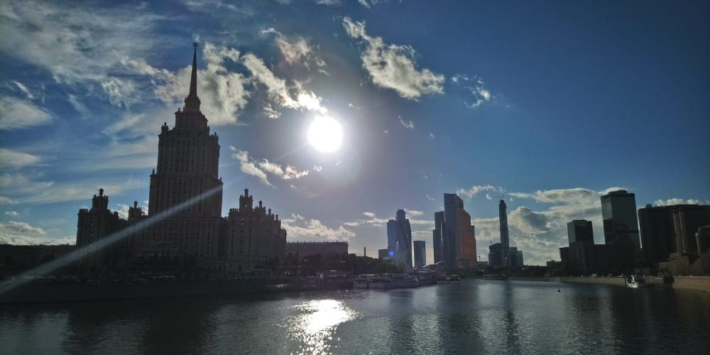 Moscow River with Downtown Moscow in the background