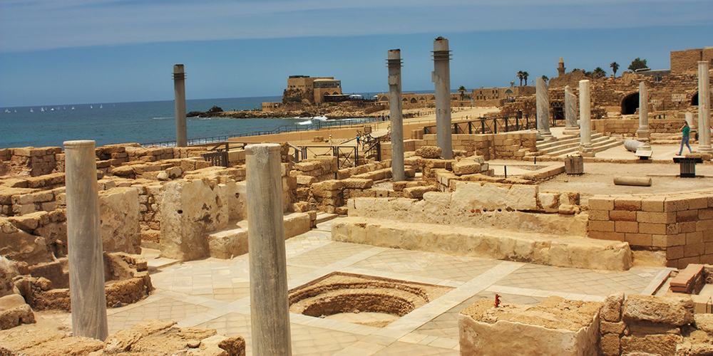 Ancient Roman city of Caesarea, Israel