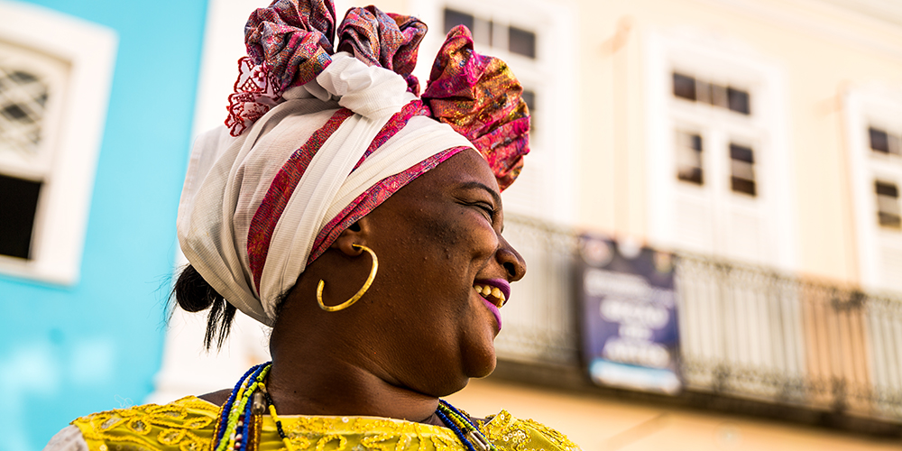 Brazilian woman of African-descent in traditional attire, Brazil