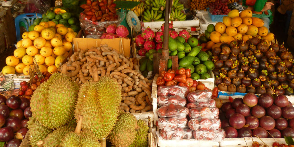 Fruit stall in the market, Siem Reap, Cambodia