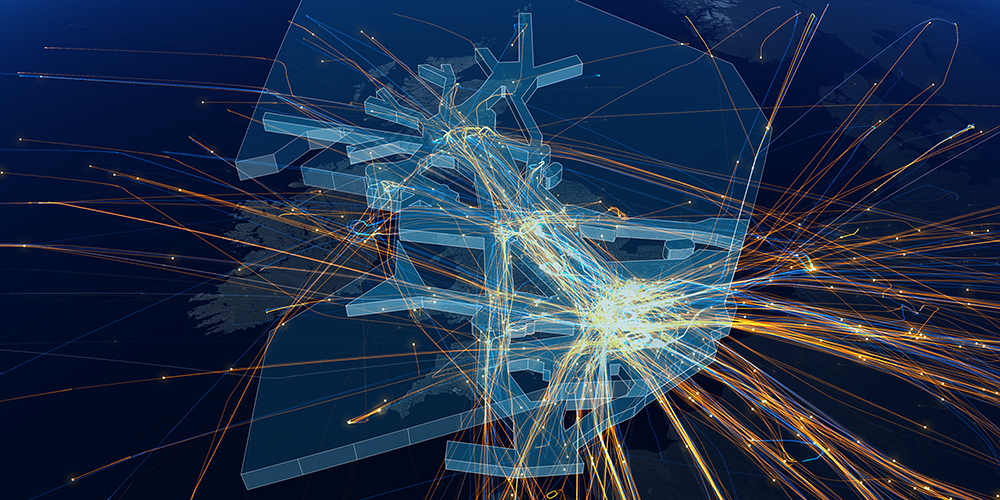 Diagram of UK airspace as it is today