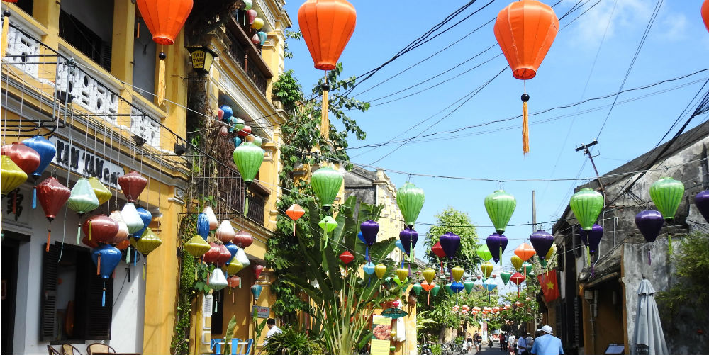Lanterns in the streets of Hoi An, Vietnam