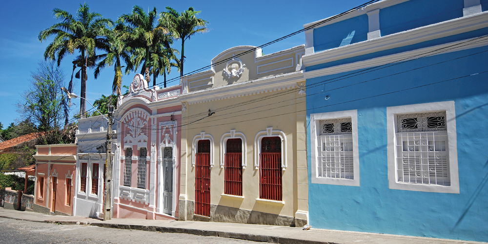 Colourful colonial houses, Olinda