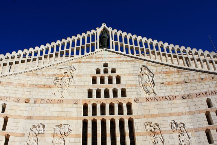 Facade of Basilica of the Annunciation, Nazareth, Israel
