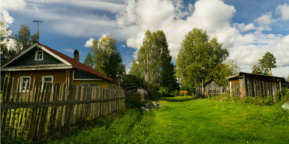 Cottage in the village of Svirstroy, Russia