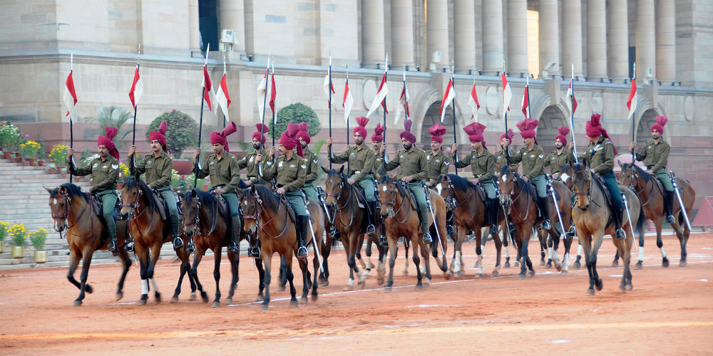 EDITORIAL ONLY Changing of the Guard, Rashtrapati Bhavan Palace, Delhi, India