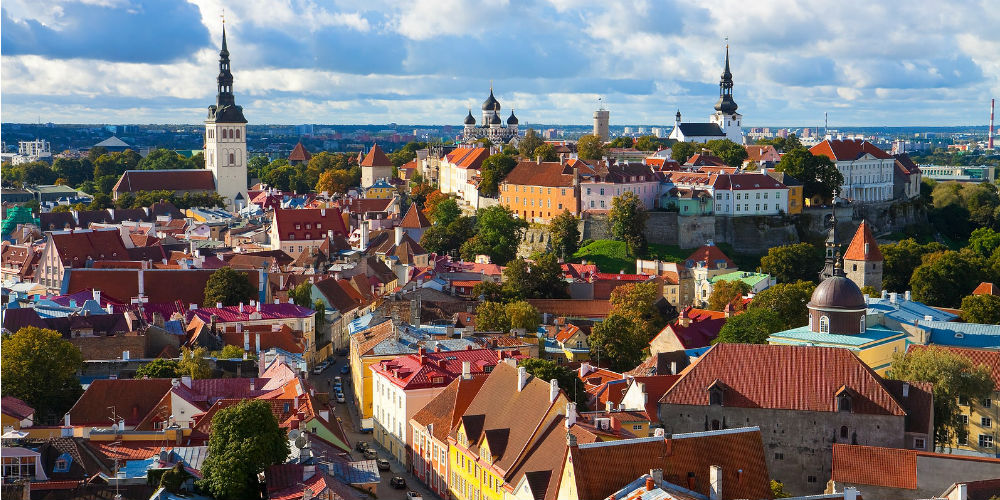 Panorama of Tallinn old town, Estonia