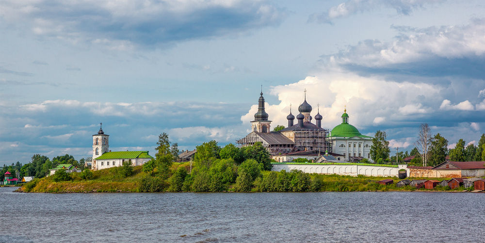 View of Monastery of Resurrection, Goritsy, Russia