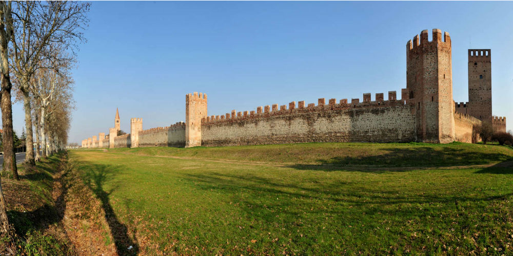 Medieval walls of Montagnana, Italy
