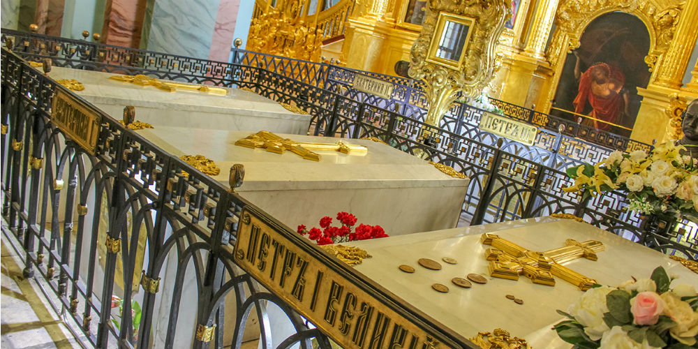 Romanov dynasty Imperial tombs, Peter and Paul Cathedral, St Petersberg, Russia