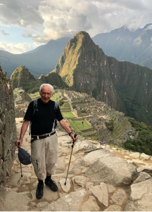 Malcolm Noble on Inca Trail, Machu Picchu, Peru